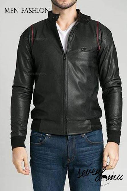 seven domu sk24 men leather jacket