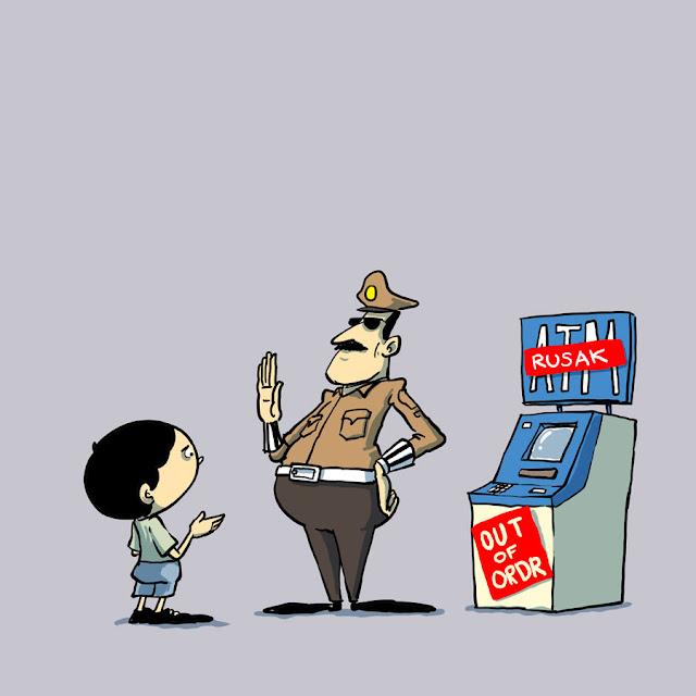 Tidak Ada Surat Tilang, Oknum Polisi Minta Warga Bayar Denda