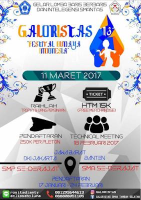 Gelar Lomba Baris Berbaris Gloristas by SMA Negeri 1 Tambun Selatan