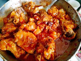 Курица с изюмом и тыквой