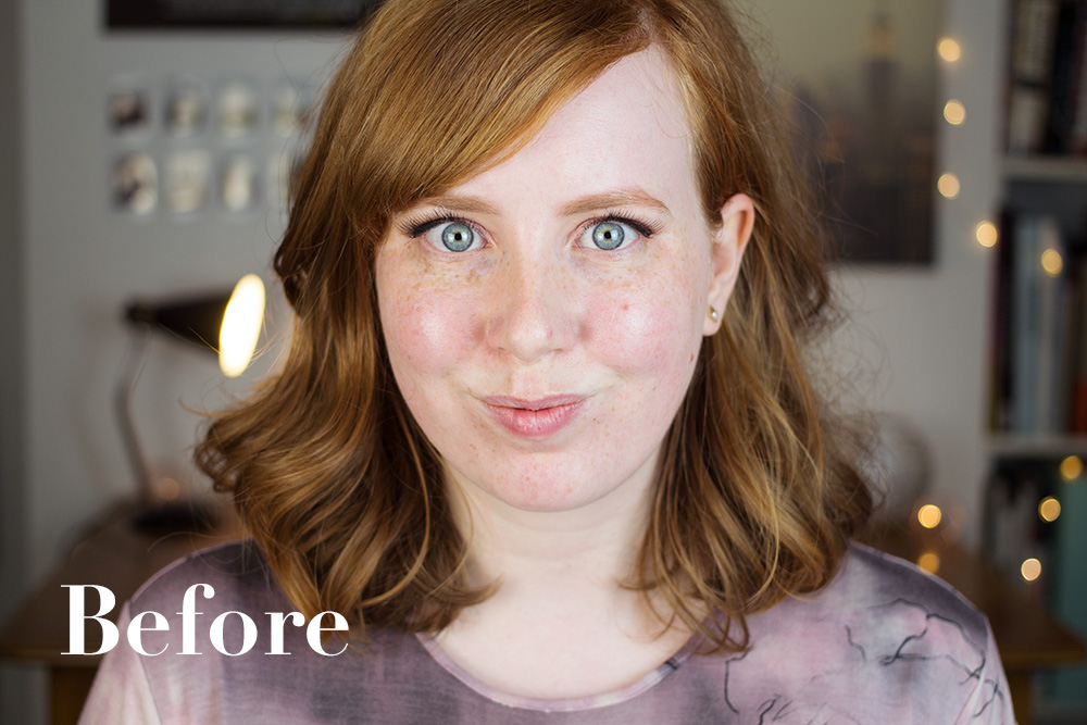 Alice Red: Freedom Pro Colour Correcting Palette Before and After