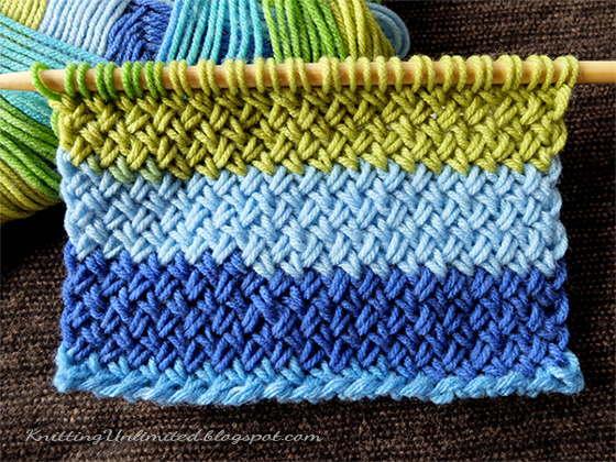 Criss-Cross Stitch (similar To Herringbone Stitch) - Knitting Unlimited