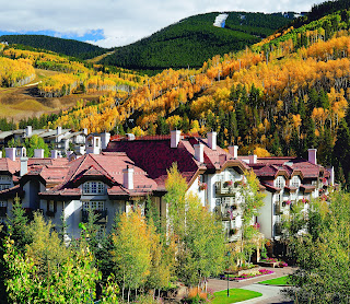 Sonnenalp Hotel amid the Rocky Mountains, Vail, Colorado