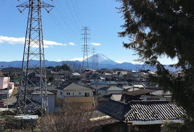 湯めみの丘から見る富士山