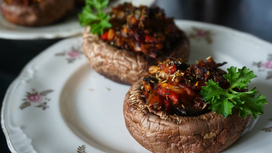 Perfect stuffed mushrooms