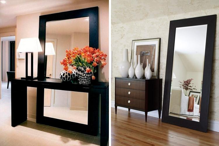 Marzua c mo decorar con espejos apoyados en el suelo for Como colgar un espejo grande en la pared