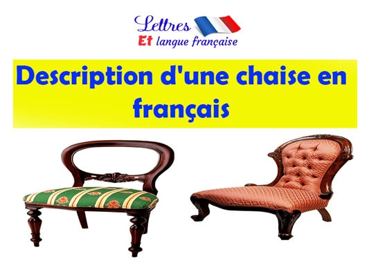 Description d'une chaise en français