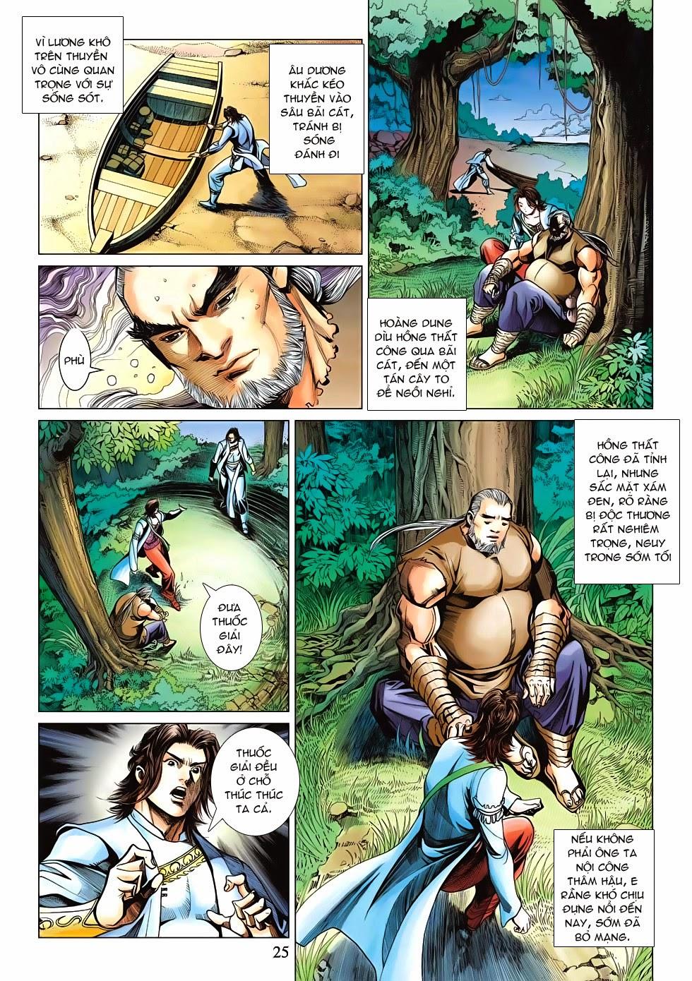 Anh Hùng Xạ Điêu anh hùng xạ đêu chap 53: lâm nguy thụ mệnh đả cẩu học pháp trang 26