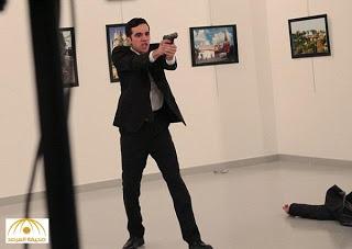 شاهد بالصور الخاصة الضابط التركي قاتل السفير الروسي .. وماذا كان يعمل وماذا قال ..