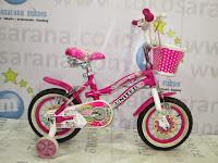 Sepeda Anak Perempuan United Pretty Girl Aloi 12 Inci