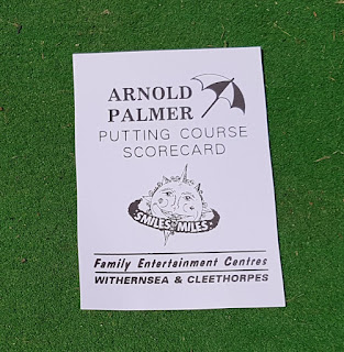 Scorecard from the Arnold Palmer Crazy Golf course in Cleethorpes