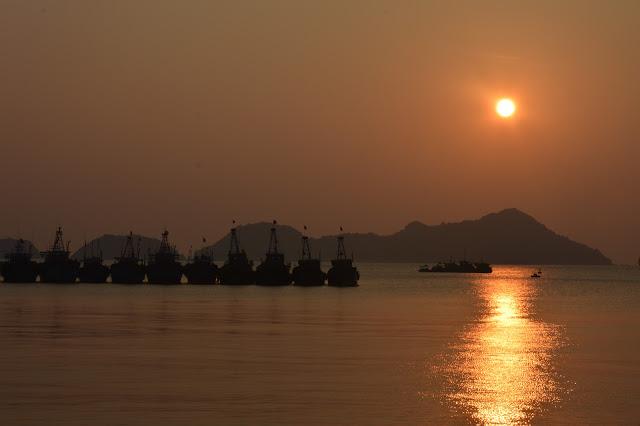Coucher de soleil aux iles Cat Ba