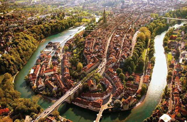 Río Aare, Berna, Suiza.