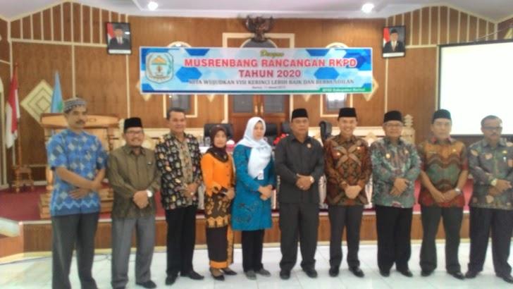 Musrenbang RKPD Tahun 2020, Adirozal : Bentuk Keseriusan Membangun Kerinci