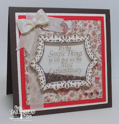ODBD Special Blend, ODBD Little Things, ODBD Cozy Quilt Paper Collection, ODBD Custom Double Stitched Squares Dies, Card Designer Angie Crockett