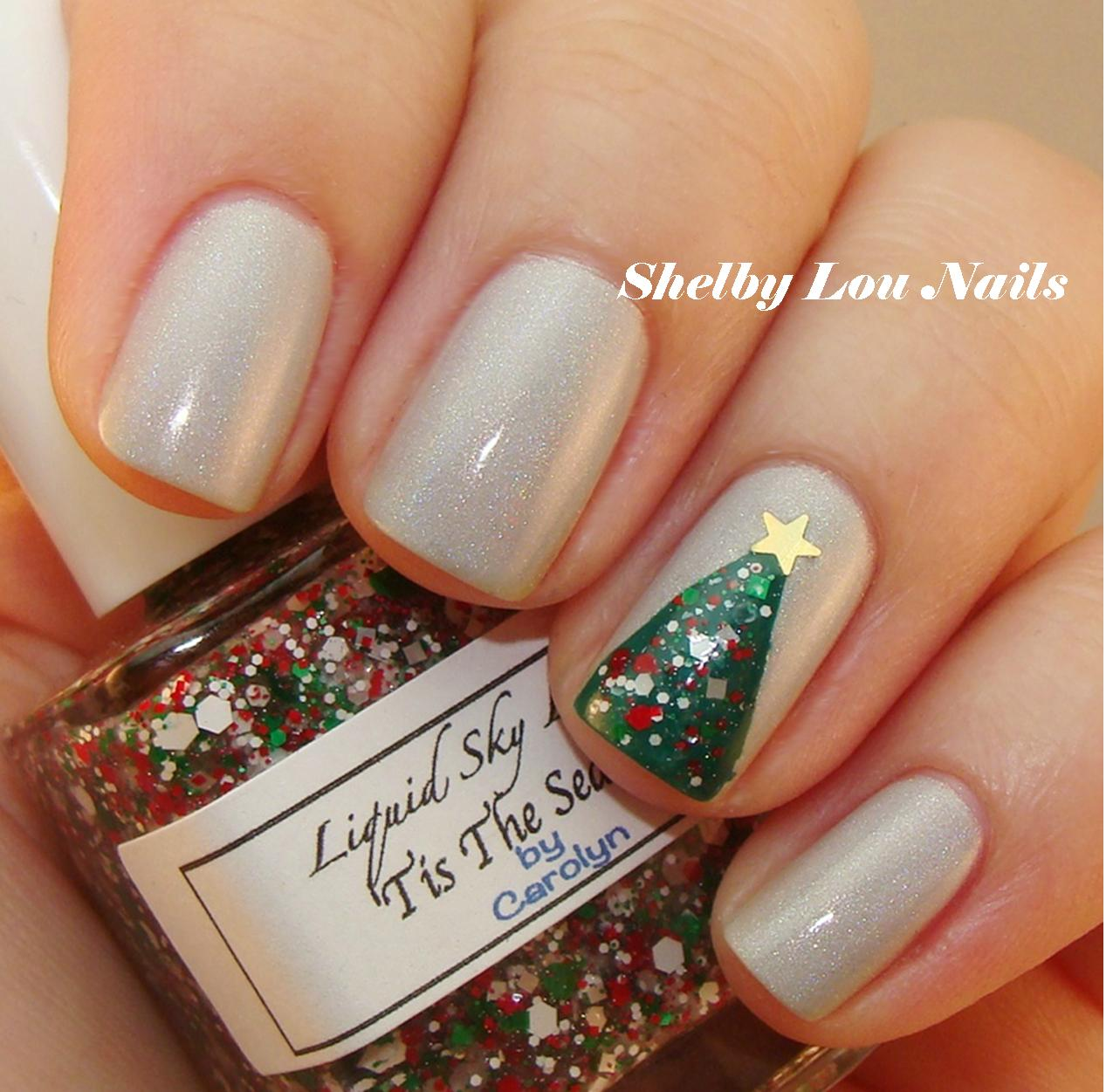 Shelby Lou Nails O Christmas Tree Nail Art Tutorial