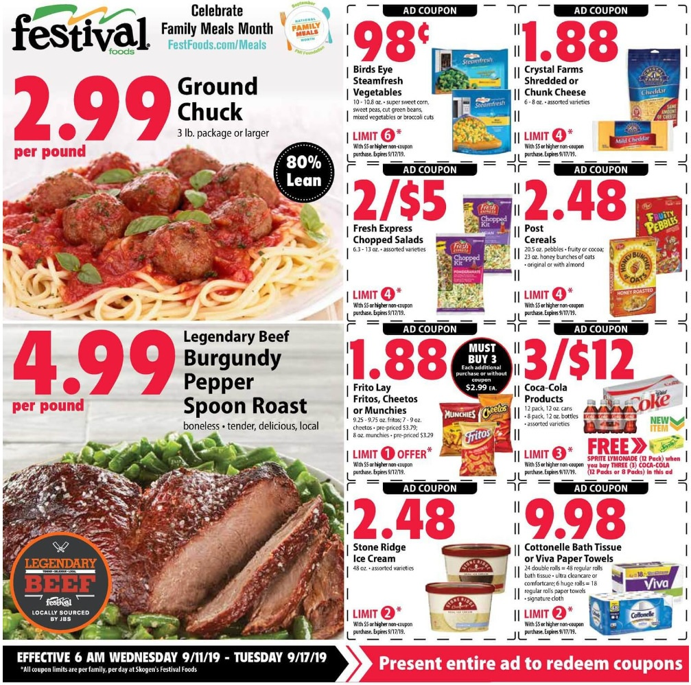 ⭐ Festival Foods Ad 9/18/19