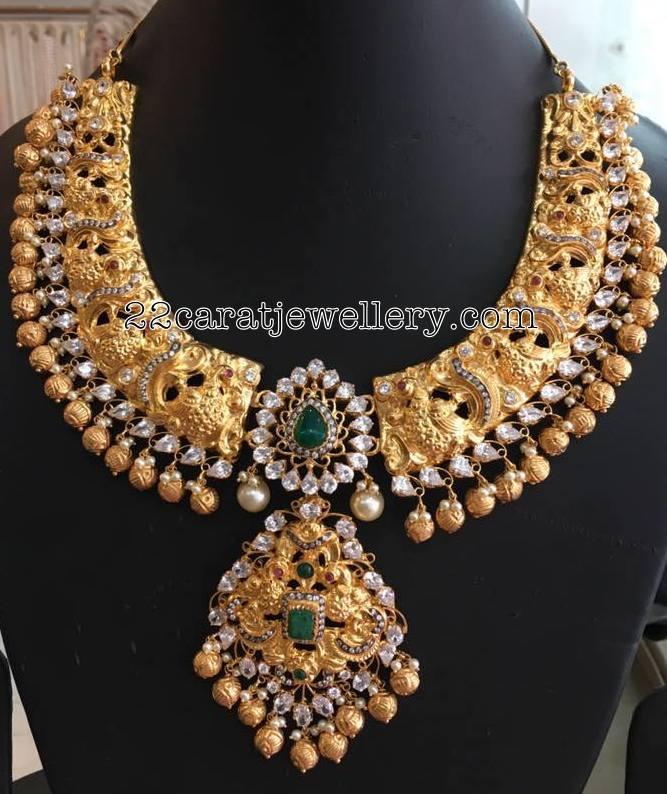 Gold Balls Nakshi Wedding Set