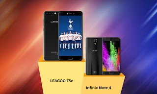 leagoo t5c vs infinix note 4