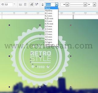 Cara Membuat Logo Retro Vintage Blurred Menggunakan CorelDRAW17