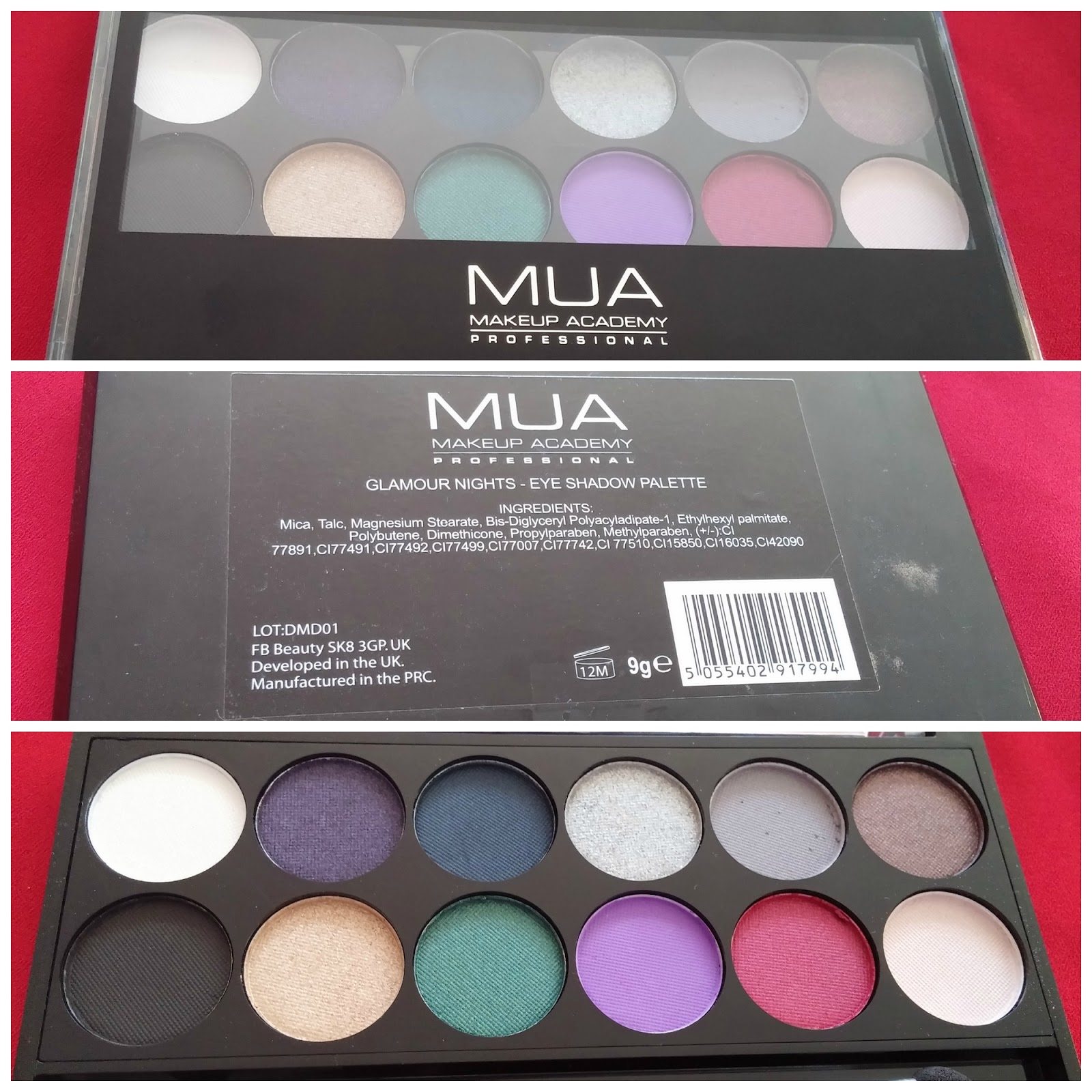 MUA GLAMOUR NIGHTS PALETTE