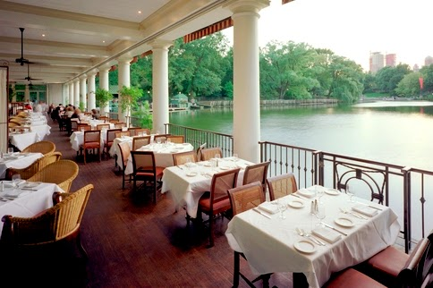 Estrutura do restaurante Loeb Boathouse