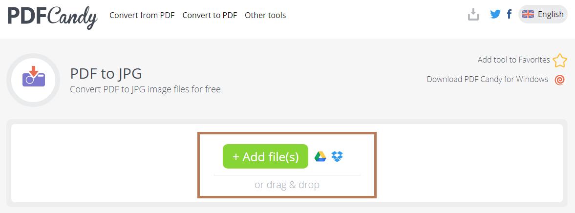 Cara mengubah PDF ke gambar melalui PDF Candy