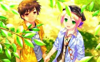 gambar anime pacaran romantis