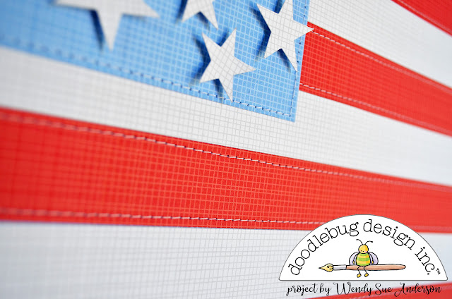 """4th of July """"Pinterest Inspired"""" projects by Wendy Sue Anderson for Doodlebug Design"""
