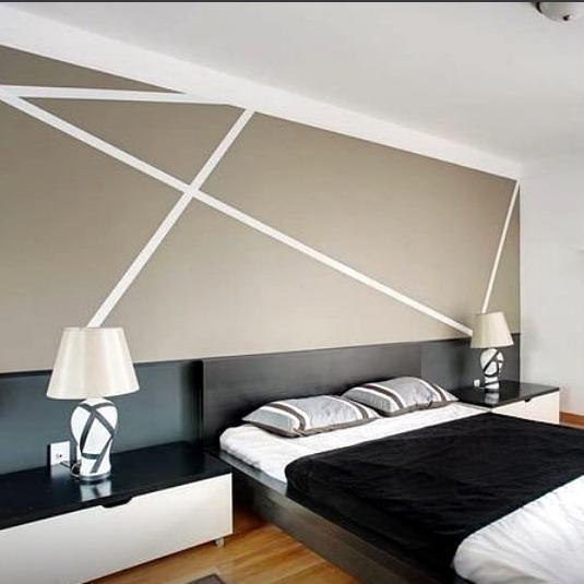 desain interior kamar tidur rumah minimalis  modern dengan backdrop