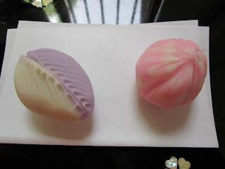 季節の主菓子(藤・行く春・ひとひら・春の水・桜)