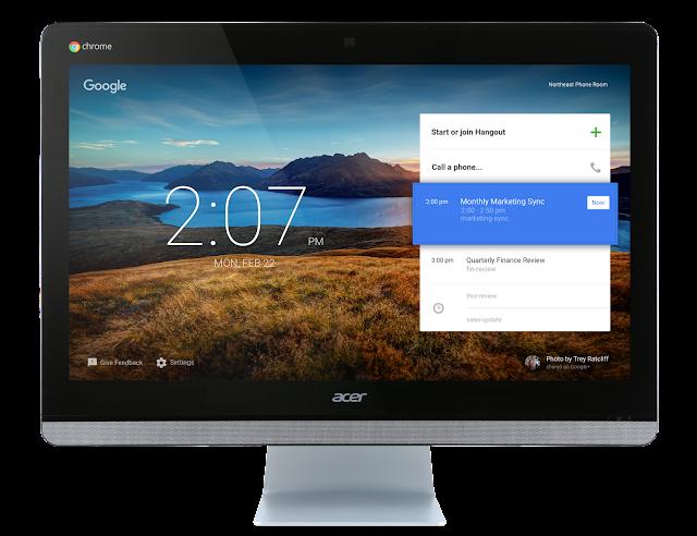 Google и Acer выпускают компьютер специально для телеконференций.