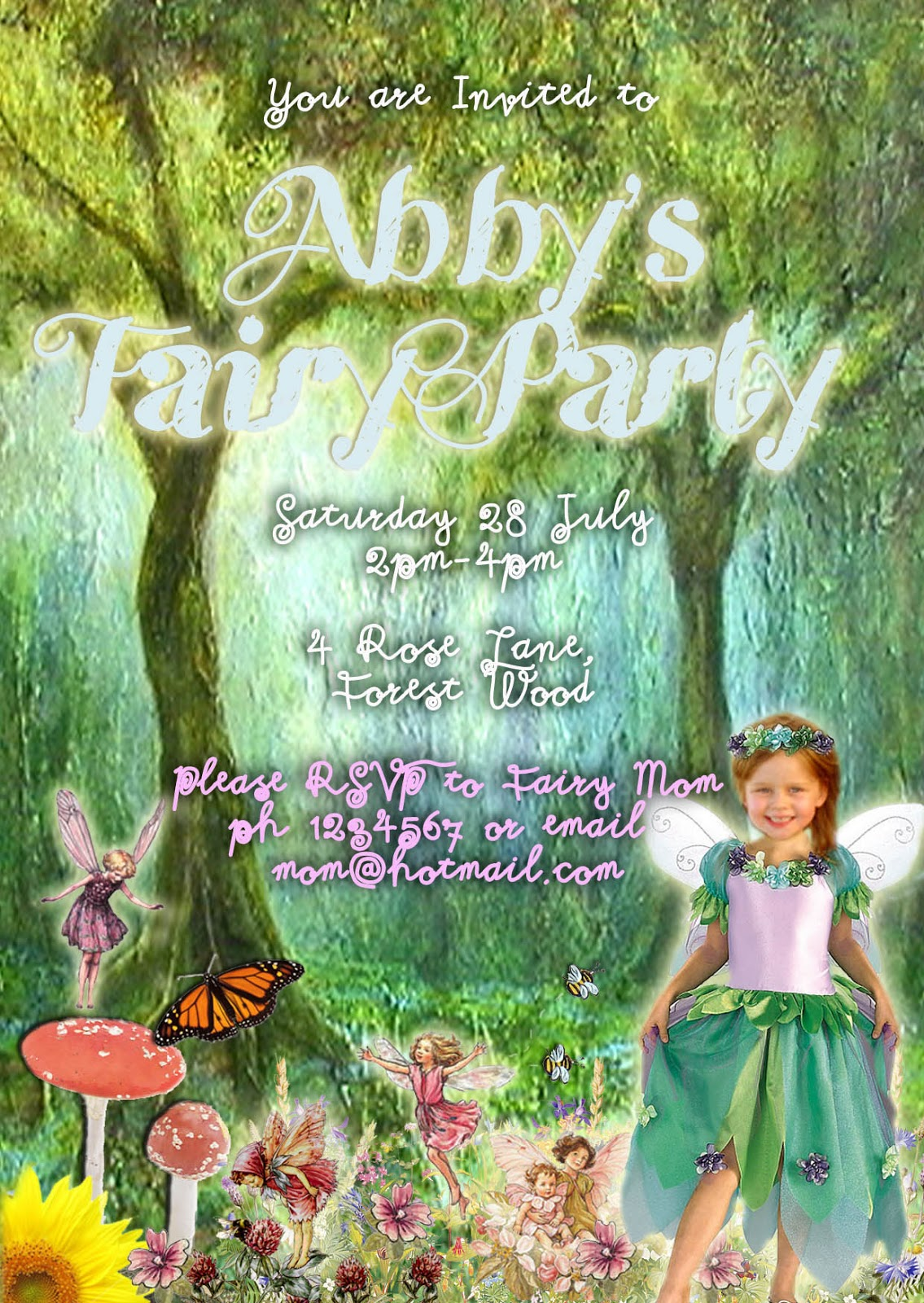Free Kids Party Invitations Fairy Party Invitation