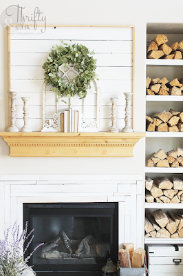 diy framed shiplap tutorial for fireplace mantel. The best diy farmhouse decor projects for you home! Farmhouse decor and decorating ideas.