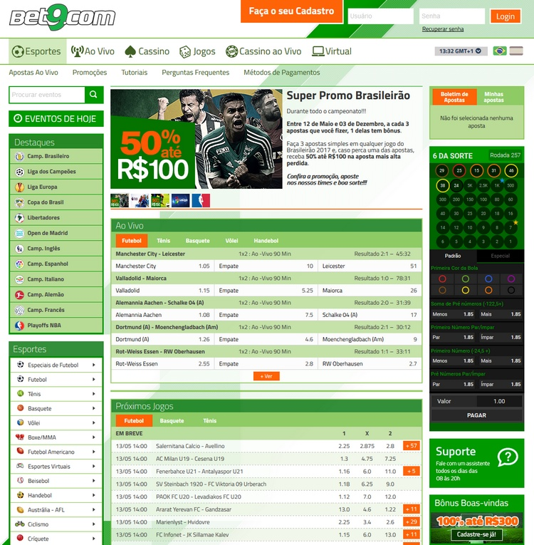 Bet9 Sportsbook Screenshot