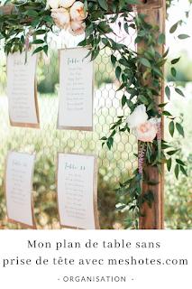 réaliser son plan de table avec les site mes hôtes.com blog mariage unjourmonprinceviendra26.com