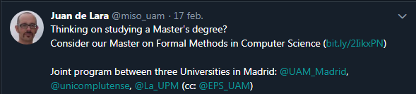 Master on Formal Methods in Computer Science