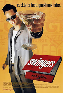 "Swingers Movie Poster -- ""Cocktails first. Questions later."""