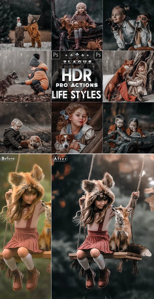 PRO HDR Photoshop Actions 26629578