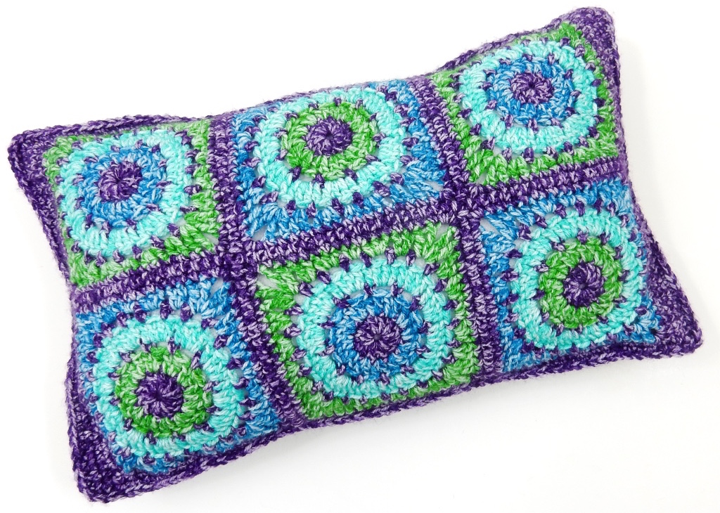 Free Crochet Patterns Circles Squares Cushion Covers