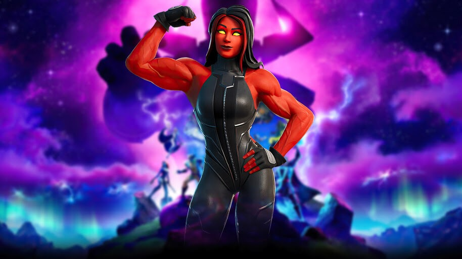 Fortnite, Red She-Hulk, Marvel, 4K, #7.2573