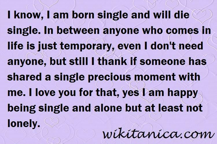 Will i die single