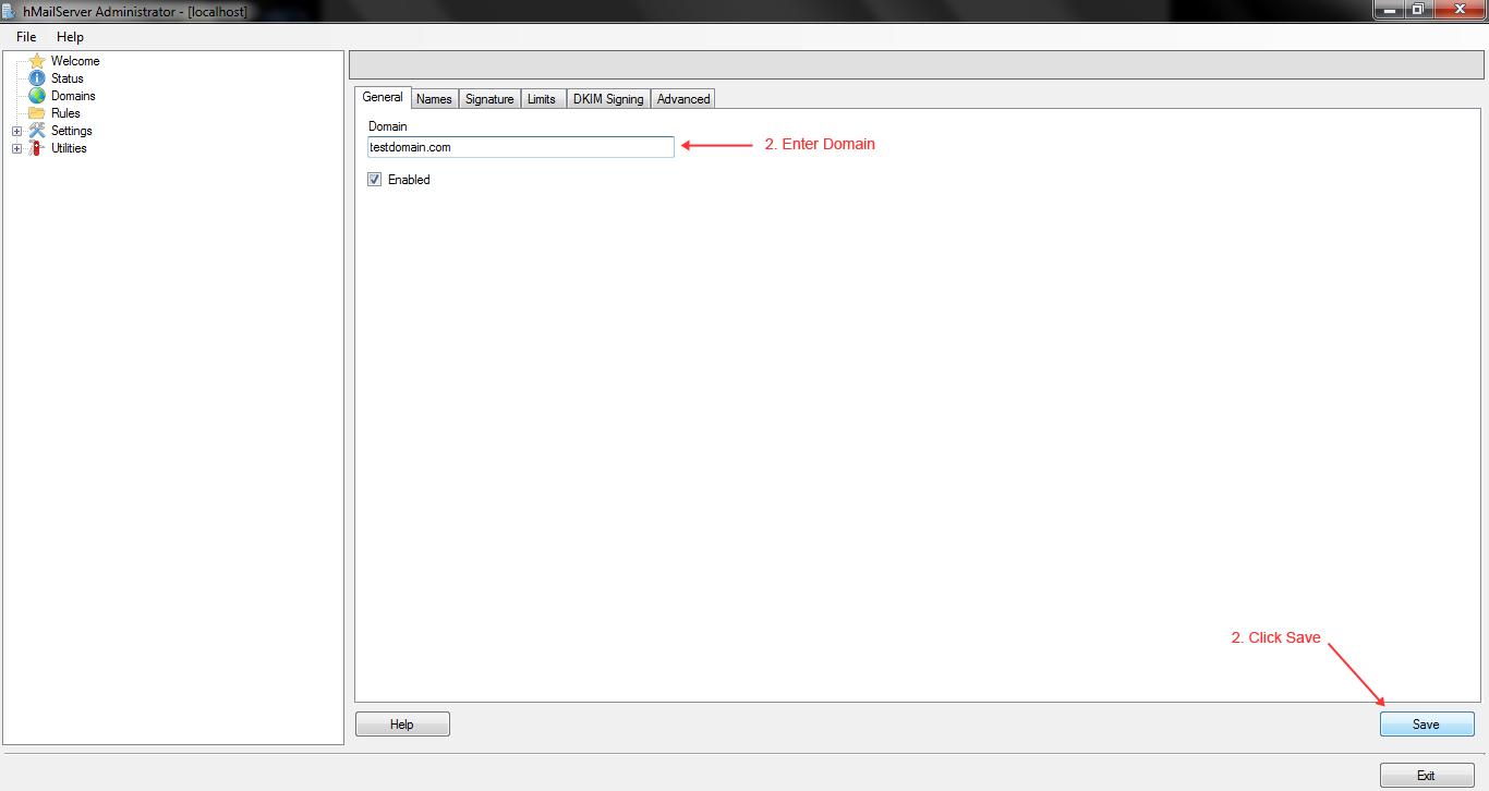 Create Email Server on Winows WAMP-02