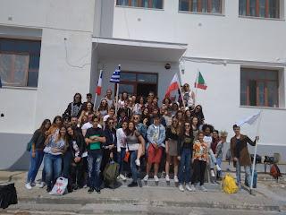 Στο Γυμνάσιο Πλωμαρίου στα πλαίσια του προγράμματος Erasmus+ μαθητές από Γαλλία Ιταλία και την Πολωνία