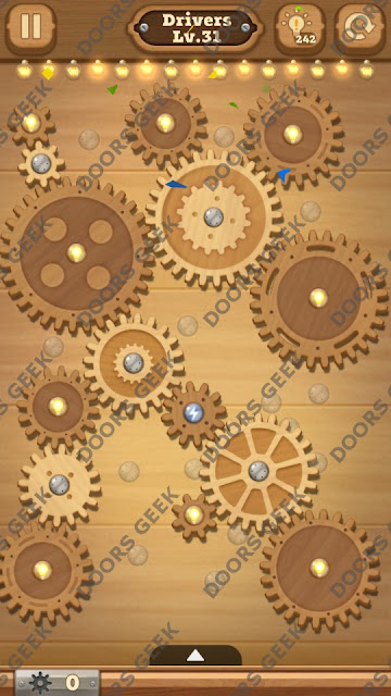 Fix it: Gear Puzzle [Drivers] Level 31 Solution, Cheats, Walkthrough for Android, iPhone, iPad and iPod