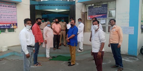 जिला भाजपा ने कोरोना संक्रमण में सेवाएं दे रहे पुलिसकर्मियों और अधिकारियों का सम्मान किया