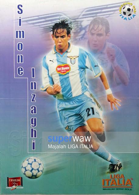 Poster Simone Inzaghi (Lazio 1999)