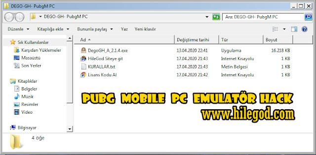 Pubg Mobile PC Emulatör DEGO GH Hack 2020 - ESP, Aimbot, Wall Hack