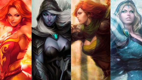 Heroes mujeres de DOTA 2