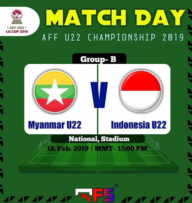 Live Streaming Cambodia vs Myanmar AFF U22 20.2.2019